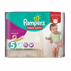 Pack 17 Couches Pampers Active Fit Pants taille 5