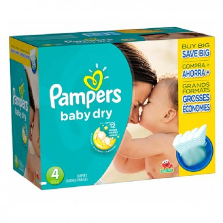 Baby Dry - Maxi Pack de 264 Couches Pampers taille 4 sur Couches Zone