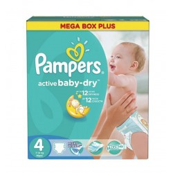 Pack jumeaux 742 Couches Pampers Active Baby Dry taille 4