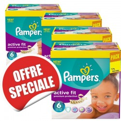 Giga pack 240 Couches Pampers Active Fit taille 6 sur Couches Zone