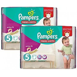 Giga pack 204 Couches Pampers Active Fit Pants taille 5