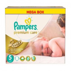Pack 60 Couches Pampers Premium Care taille 5 sur Couches Zone