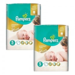 Mega pack 100 Couches Pampers Premium Care taille 5 sur Couches Zone