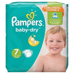 Pack 21 Couches Pampers Baby Dry taille 7 sur Couches Zone
