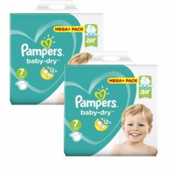 Pack 42 Couches Pampers Baby Dry taille 7 sur Couches Zone