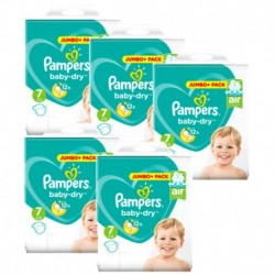 Pack 63 Couches Pampers Baby Dry taille 7 sur Couches Zone
