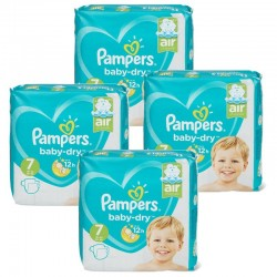 Mega pack 105 Couches Pampers Baby Dry taille 7 sur Couches Zone