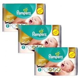 Giga pack 242 Couches Pampers New Baby Premium Care taille 2 sur Couches Zone