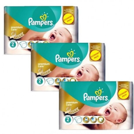 Maxi giga pack 308 Couches Pampers New Baby Premium Care taille 2 sur Couches Zone