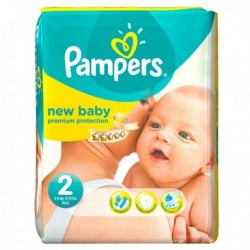 Pack 76 Couches Pampers New Baby Dry taille 2 sur Couches Zone