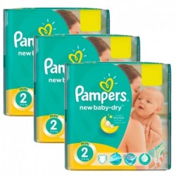 Pack jumeaux 532 Couches Pampers New Baby Dry taille 2