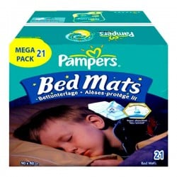 Maxi Pack 21 Alèses de lits Pampers taille 90X80cm sur Couches Zone