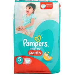 Pack 15 Couches Pampers Baby Dry Pants taille 5