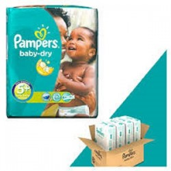 Baby Dry - Pack de 245 Couches de Pampers taille 5+ sur Couches Zone
