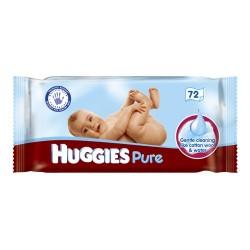 Pure - Pack 72 Lingettes Bébés Huggies sur Couches Zone