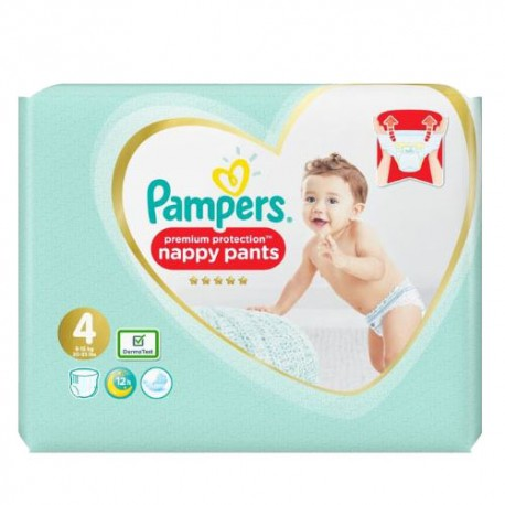 Pack 19 Couches Pampers Premium Protection Pants taille 4 sur Couches Zone