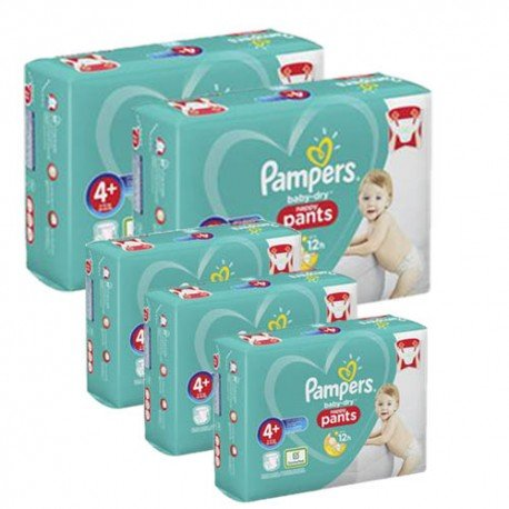 Pack jumeaux 525 Couches Pampers Baby Dry Pants taille 4+ sur Couches Zone