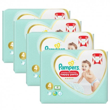 Mega pack 133 Couches Pampers Premium Protection Pants taille 4 sur Couches Zone