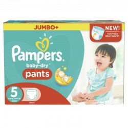 Pack 90 Couches Pampers Baby Dry Pants taille 5 sur Couches Zone