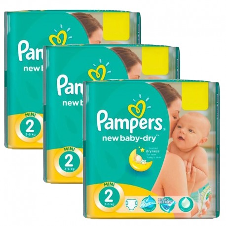 Pack jumeaux 560 Couches Pampers New Baby Dry taille 2 sur Couches Zone