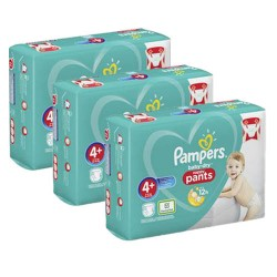 Pack jumeaux 693 Couches Pampers Baby Dry Pants taille 4+ sur Couches Zone
