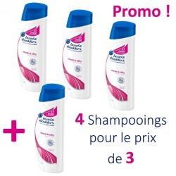 Antipelliculaire Lisse et Soyeux - Pack 4 Shampooings Head & Shoulders - 4 au prix de 3 sur Couches Zone