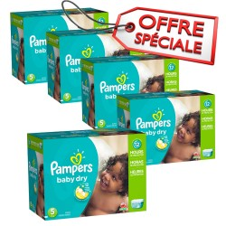 Giga pack 230 Couches Pampers Baby Dry taille 5 sur Couches Zone