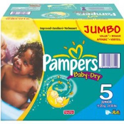 Giga pack 253 Couches Pampers Baby Dry taille 5 sur Couches Zone