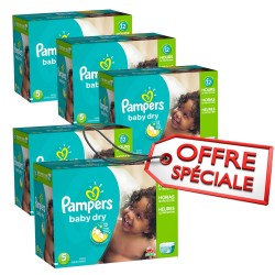 Maxi giga pack 322 Couches Pampers Baby Dry taille 5 sur Couches Zone