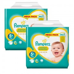 Mega pack 180 Couches Pampers New Baby Premium Protection taille 5+ sur Couches Zone