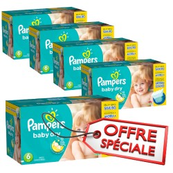 Mega pack 152 Couches Pampers Baby Dry taille 6 sur Couches Zone