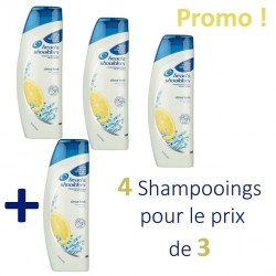 Antipelliculaire Citrus Fresh - Pack 4 Shampooings d'Head & Shoulders - 4 au prix de 3 sur Couches Zone
