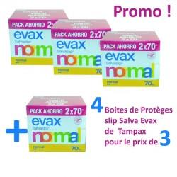 Salva Evax - Pack de 560 Protèges-Slips de Tampax - 4 au prix de 3 sur Couches Zone