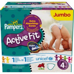 Active Fit - Pack 336 Couches de Pampers taille 4