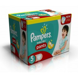 126 Couches Pampers Baby Dry Pants taille 5