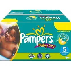 308 Couches Pampers Baby Dry taille 5 sur Couches Zone