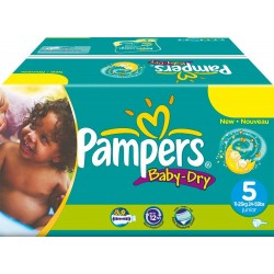 528 Couches Pampers Baby Dry taille 5 sur Couches Zone