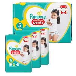 136 Couches Pampers Premium Protection Pants taille 5