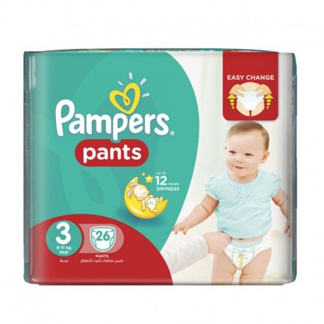180 Couches Pampers Baby Dry Pants taille 3 sur Couches Zone