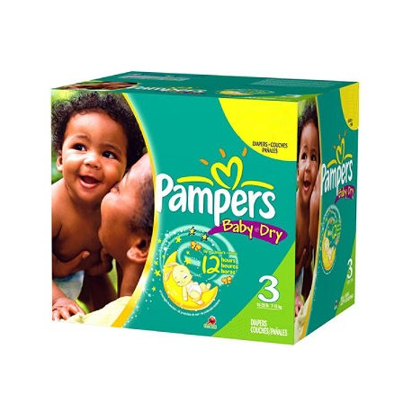 540 Couches Pampers Baby Dry taille 3 sur Couches Zone