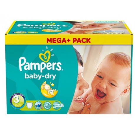 810 Couches Pampers Baby Dry taille 3 sur Couches Zone