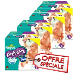 Giga pack 272 Couches Pampers Active Fit taille 3 sur Couches Zone