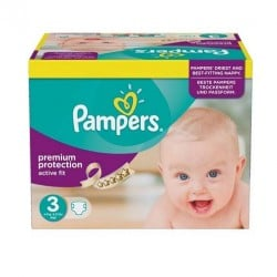 340 Couches Pampers Active Fit taille 3 sur Couches Zone