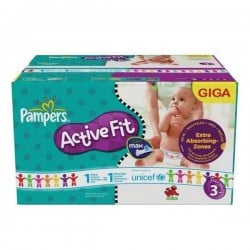 544 Couches Pampers Active Fit taille 3 sur Couches Zone