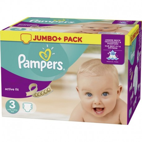 612 Couches Pampers Active Fit taille 3 sur Couches Zone
