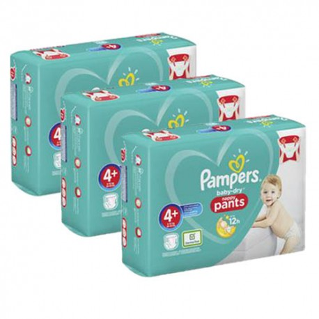 Maxi mega pack 490 Couches Pampers Baby Dry Pants taille 4+ sur Couches Zone