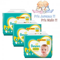 Pack jumeaux 864 Couches Pampers New Baby Premium Protection taille 4 sur Couches Zone