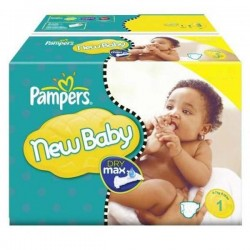 New Baby Dry - Pack économique 301 Couches Pampers taille 1 sur Couches Zone