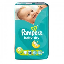 Pack 33 Couches Pampers Baby Dry taille 2