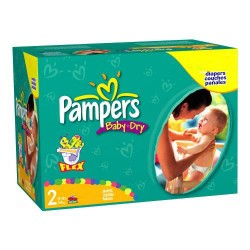 Mega pack 198 Couches Pampers Baby Dry taille 2 sur Couches Zone